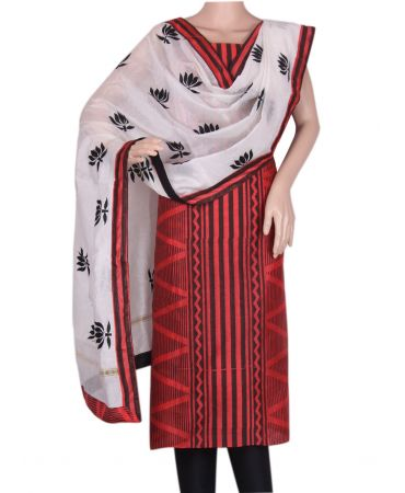 Red poly silk salwar