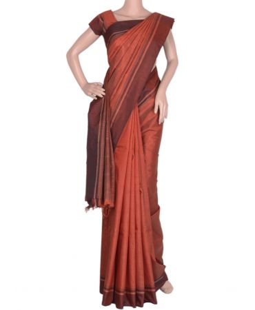 Brown Kancheepuram saree