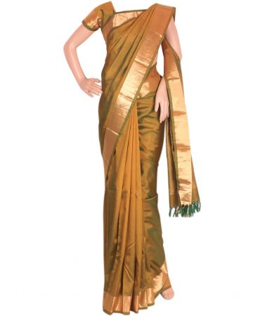 Green pure kanchipuram saree